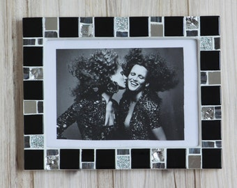 5x7 frame - Mosaic photo frame - Black frame - Photo frame 5x7 - Picture frame 5x7 - Black photo frame - Mosaic art - Modern frame
