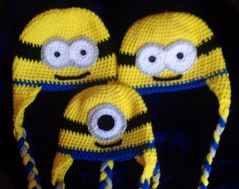 Minion hat For newborn, baby, toddler, or adult