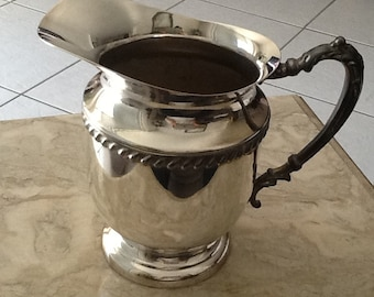 Antique  Silver Plate Water Pitcher Circa 1940's