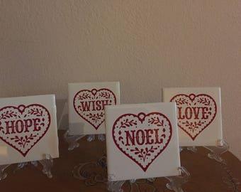 Christmas Tile Coasters