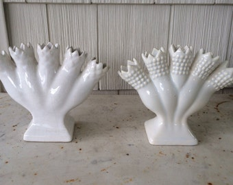 Pair of Vintage 5 Finger Posey Vases