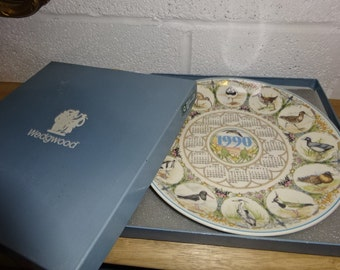 Vintage Wedgwood 1990 Calender Plate/Queens Ware/Decorative Plate/Collectible