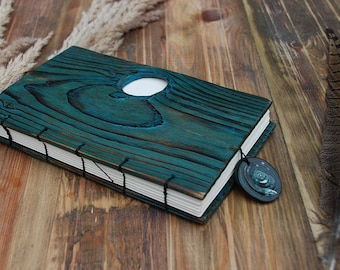 Notepad Wooden Notebook Personalized wooden notebook wooden journal wooden sketchbook