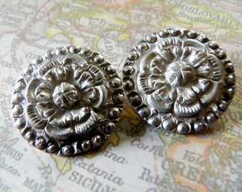 Antique 19th Century Sterling Silver Buttons