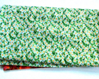 Green Daisy  Baby Blanket  Large and  Doublesided