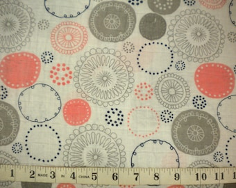 1 YD - Double Gauze/Whimsy Circle Embrace/By Shannon Fabrics