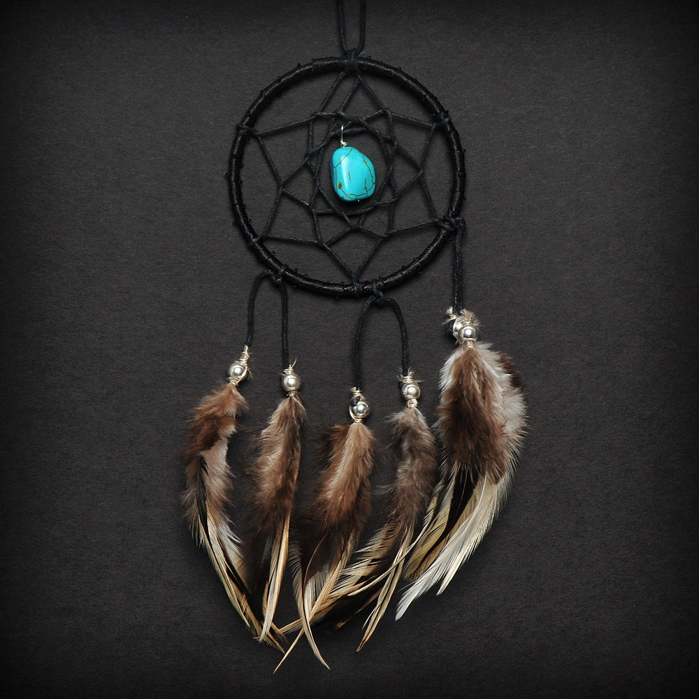 Can Dream Catchers Get Full Black Turquoise Stone Car Mirror Dream Catcher Small 5