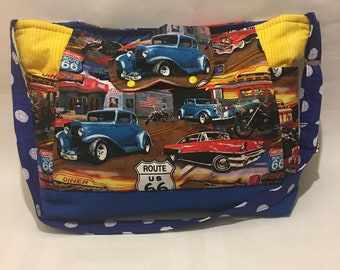 Baby Diaper Bag Route 66 classic cars trucks motorcycle