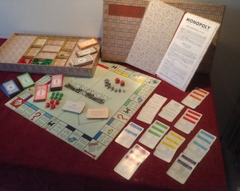 RESERVED TRICIA,Vintage French MONOPOLY Board Game, Complete Set with the money in Francs, Brilliant Antique Game & learn the lingo!