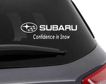 Subaru Sticker Accessory Decal Impreza wrx Confidence in Snow - sti - rally - forester - legacy - graphic - sticker -wrxsti