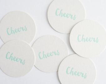 Cheers – Letterpress Coasters