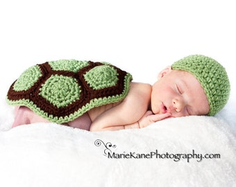 PATTERN Turtle Shell & Hat Photo Prop - Crochet