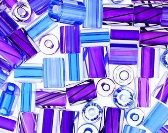 "5 x beads ""Furnace Glass"" PURPLE BERRY"