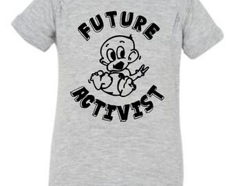 Future Activist Premium Onesie Baby Onesie Baby Shirt Baby Gift Mom Gift Baby Shower Gift Vegan Vegetarian Cruelty Free