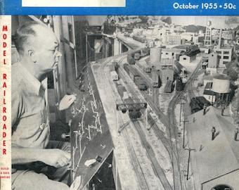 model Railroader magazine October 1955 Very Good Condition