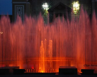 Krizikova fontana of Prague Czech Republic JPG File Digital Photo (3)