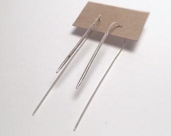 Minimalist Sterling Silver U-pin Earrings