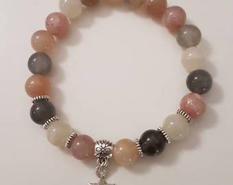 The Sunstone and Moonstone beaded bracelet