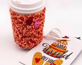 Coffee Cup Cozy Knit Mug Sweater Coffee Sleeve Wool Coffee Sleeve Sweater Cup Coffee Jacket Gifts Crochet Mug Holder Mother Day Gift Crochet