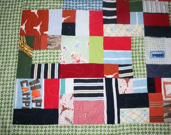 Custom Made Quilts - sentimental clothing takes up space - baby clothes, tshirts, clothing from a passed loved one - have a quilt custommade