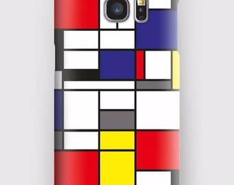 Case for Samsung S5, S6, S6 and S7, S7 + S8 S8 + A3, A5, J3, GP Note 4,5, 8, Mondrian