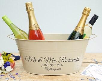 Personalised Wedding Wine Cooler