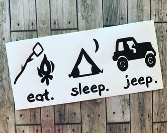 Eat. Sleep. Jeep. // Jeep Decal