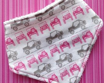 Cotton or bamboo  bandana dribble bib (choose backing fabric) - 4wd dreams