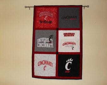 T-Shirt/Memory Quilt Wall Hanging, Custom Made