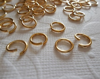 Large 7.6mm Round Raw Brass 20 gauge Jump Rings - Qty 167 Pieces