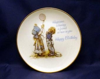 Vintage Lasting Memories Happy Birthday Friend Porcelain Plate, 1978