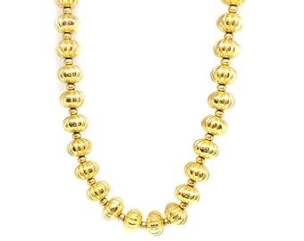 Vintage 1980s Chain Necklace | Vintage Necklace | Monet Necklace | Gold Necklace | Ball Necklace | Choker Necklace | Statement Necklace