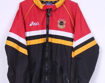 Asics Bradford Bulls Mens L Jacket Full Zipper Rugby League Club Black Sport