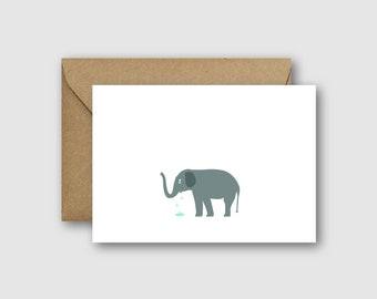 Elephant Sorry Card