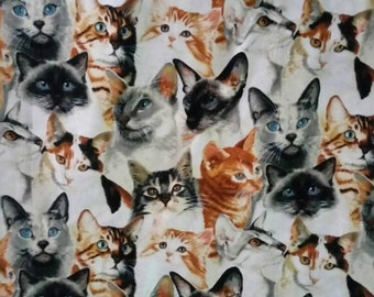 Beautiful Cats Fabric 3 yards Patty Reed Designs 2005
