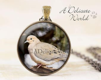 Mourning Dove Necklace - Turtle Dove Bird, Jewellery Pendant Bronze, Dove Jewelry Pendant, Bronze Bird Necklace, Bird Jewelry, Dove Pendant