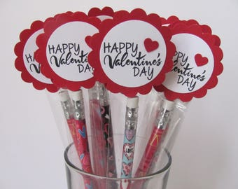 Kids School Valentines, Valentines Day Pencil Favors, Classroom Valentines, Valentines Favors, Personalized Valentines, Pencils Favors