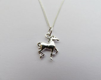 Sterling Silver 925 Horse Necklace