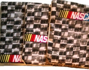 HUGE SALE NASCAR Checkers with White Cornhole Bags