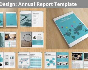 InDesign Annual Report template -  16 pages - V01