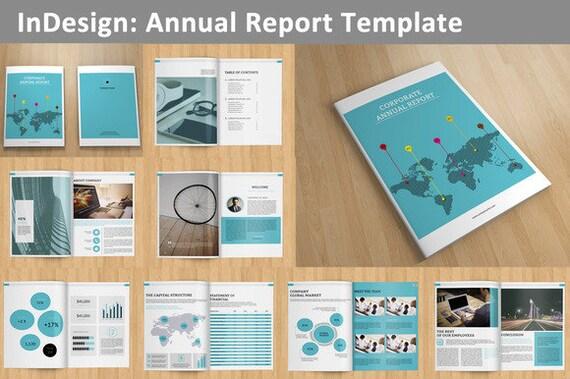 InDesign Geschäftsbericht Vorlage 16 Seiten V01