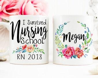 Nurse Graduation Gift, RN Mug, Grad from Nursing School College, Nurse Grad Gift, Nurse Mug, Registered Nurse Mug, Nurse Cup