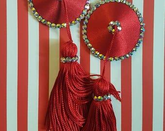 Rhinestone Nipple Tassels, Burlesque Pasties by Koston Kreme