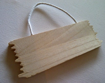 Plain Wooden Hanging Sign - Craft Decorate Pine - Wedding Party House Signage