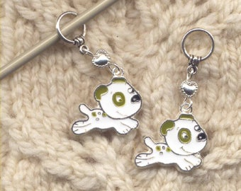 Litter of Puppies Knitting Stitch Markers Love My Dog Set of 4/SM267