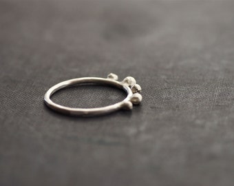 Sterling Ring with Recycled Sterling Drops - Made to Order