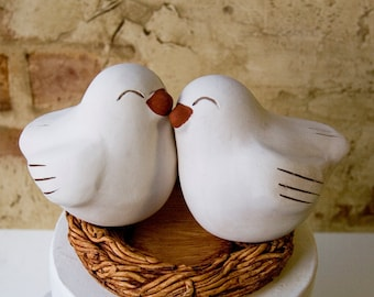 Happy Love Bird Cake Topper