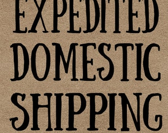 Expedited Domestic Shipping