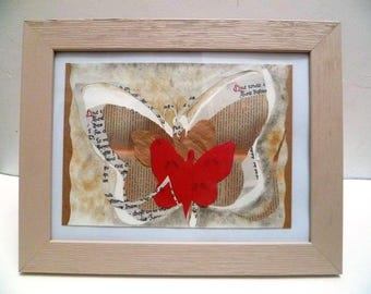 Collage, butterfly, writer, novel, watercolor
