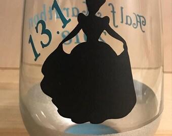 RunDisney / Princess Half Marathon Stemless Wine Glass